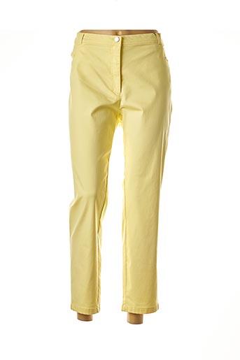 Pantalon 7/8 jaune EUGEN KLEIN pour femme
