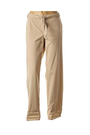 Pantalon casual beige CAROLINE BISS pour femme