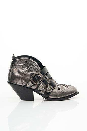 Bottines/Boots gris AREA FORTE pour femme