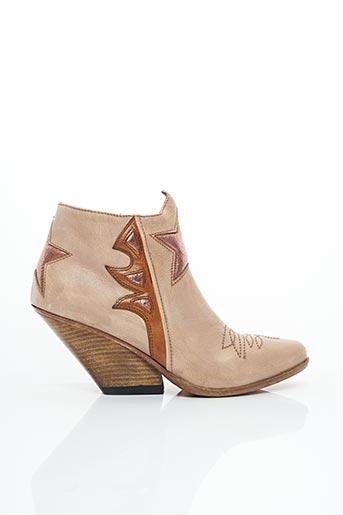 Bottines/Boots rose AREA FORTE pour femme