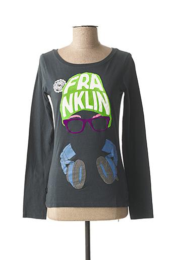 T-shirt manches longues vert FRANKLIN MARSHALL pour femme