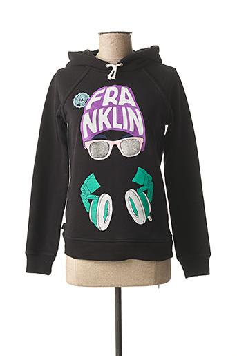 Sweat-shirt noir FRANKLIN MARSHALL pour femme