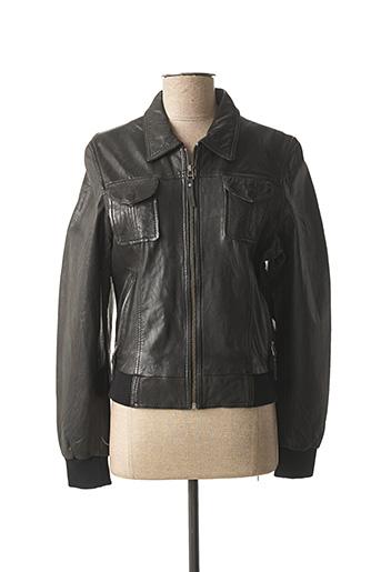Veste en cuir noir D'UN CAPRICE pour femme