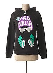 Sweat-shirt noir FRANKLIN MARSHALL pour femme seconde vue