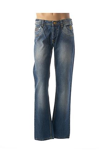 Jeans coupe droite bleu A-STYLE pour homme