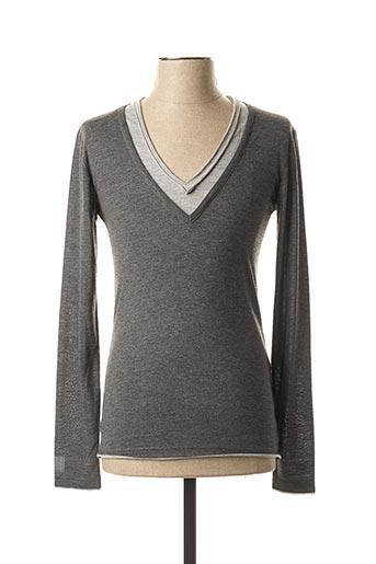 T-shirt manches longues gris ELEVEN COLORS pour homme
