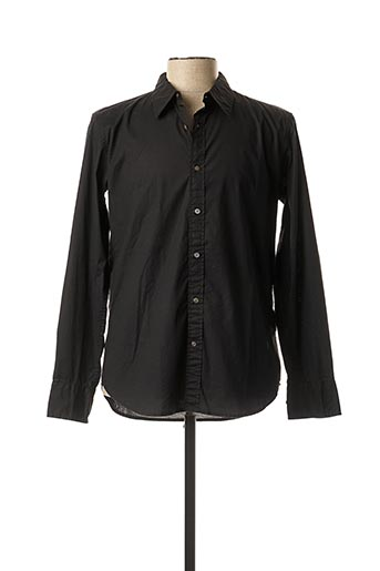 Chemise manches longues noir REPLAY pour homme
