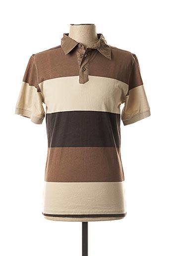 Polo manches courtes marron COLUMBIA pour homme