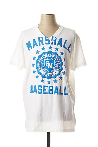 T-shirt manches courtes blanc FRANKLIN MARSHALL pour homme