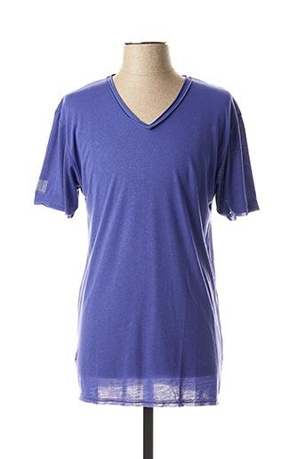 T-shirt manches courtes violet ELEVEN COLORS pour homme