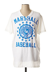 T-shirt manches courtes blanc FRANKLIN MARSHALL pour homme seconde vue