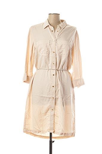 Robe mi-longue beige DESGASTE pour femme