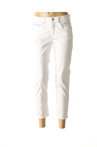 Jeans coupe slim blanc ANNA MONTANA pour femme
