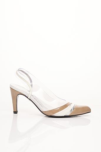 Sandales/Nu pieds beige AZUREE pour femme