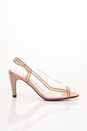Sandales/Nu pieds orange AZUREE pour femme