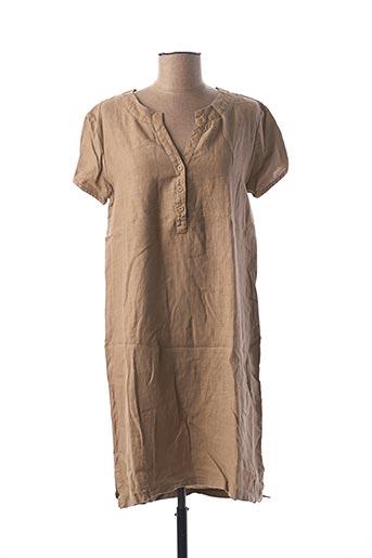 Robe mi-longue marron LE BOUDOIR D'EDOUARD pour femme