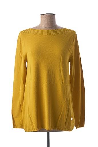 Pull col rond jaune LE BOUDOIR D'EDOUARD pour femme