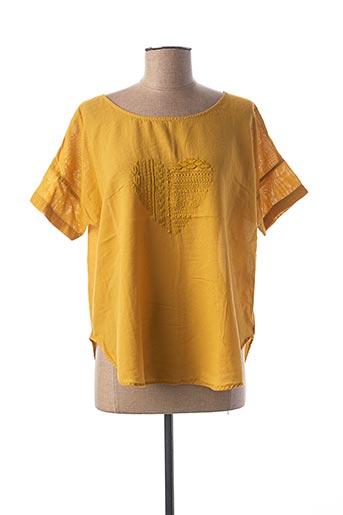 Blouse manches courtes jaune LE BOUDOIR D'EDOUARD pour femme