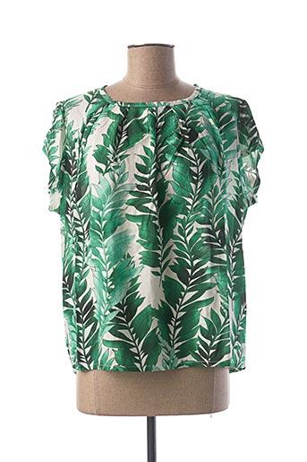 Blouse manches courtes vert LE BOUDOIR D'EDOUARD pour femme