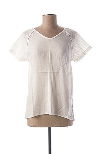T-shirt manches courtes blanc LE BOUDOIR D'EDOUARD pour femme