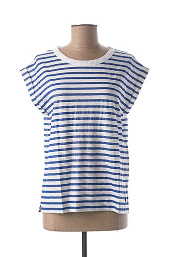 T-shirt manches courtes bleu LE BOUDOIR D'EDOUARD pour femme