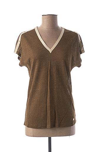 T-shirt manches courtes vert LE BOUDOIR D'EDOUARD pour femme