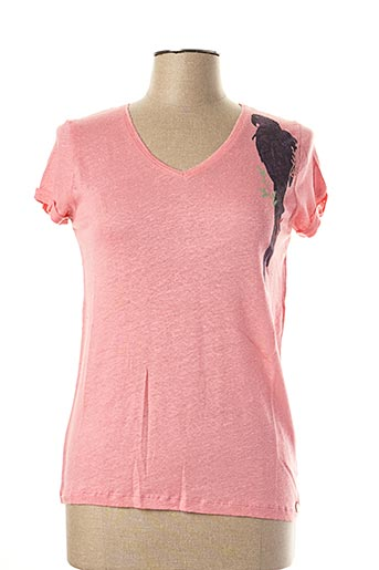 T-shirt manches courtes rose LE BOUDOIR D'EDOUARD pour femme