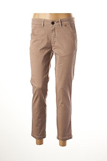 Pantalon casual beige LE BOUDOIR D'EDOUARD pour femme