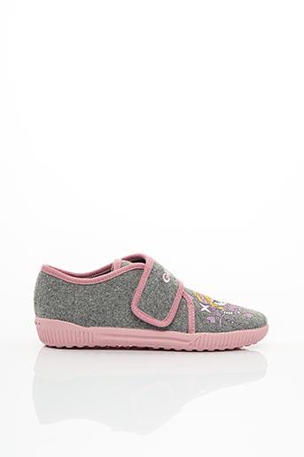 Chaussons/Pantoufles gris GEOX pour fille