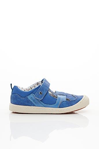 Baskets bleu KICKERS pour garçon