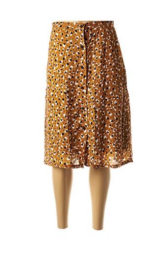 Jupe mi-longue marron KANOPE pour femme