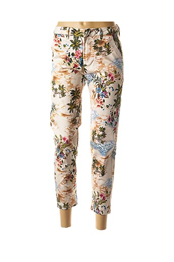Pantalon 7/8 beige LILI SIDONIO pour femme