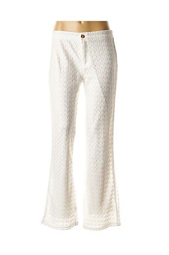 Pantalon casual blanc MOLLY BRACKEN pour femme