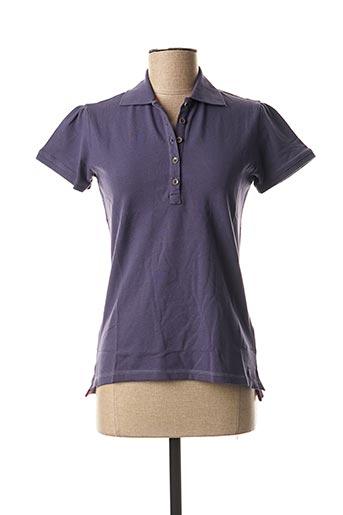 Polo manches courtes bleu TIMEZONE pour femme