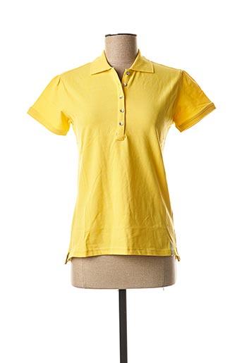 Polo manches courtes jaune TIMEZONE pour femme
