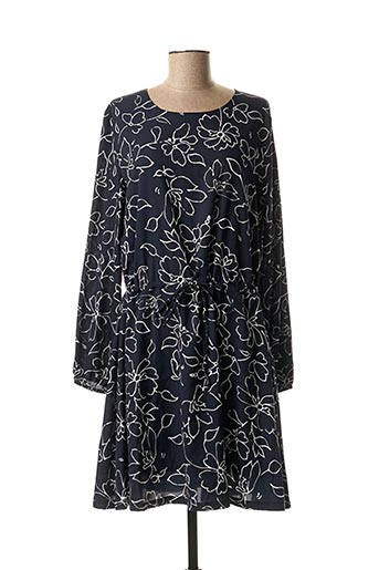 Robe mi-longue bleu ICHI pour femme