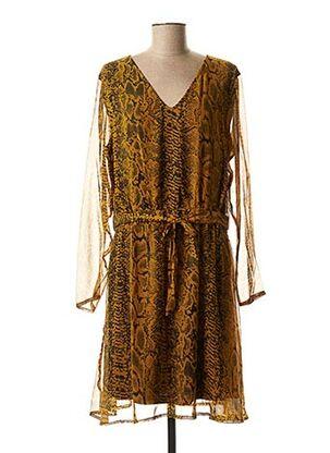 Robe mi-longue orange ICHI pour femme