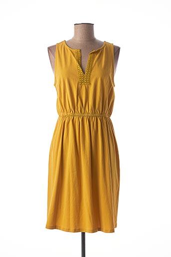 Robe mi-longue jaune MEXX pour femme