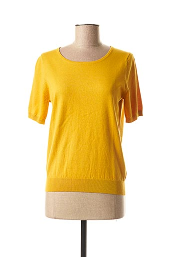 Pull col rond jaune MEXX pour femme
