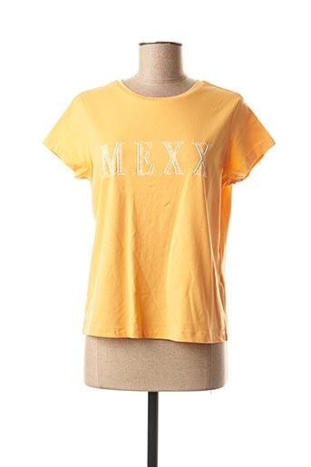 T-shirt manches courtes orange MEXX pour femme
