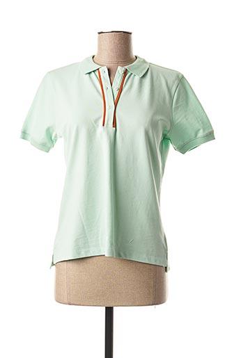 Polo manches courtes vert MEXX pour femme