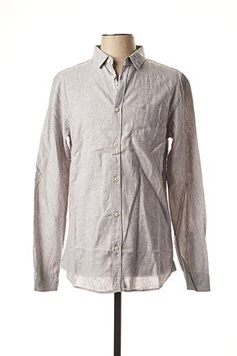 Chemise manches longues gris TIBET pour homme