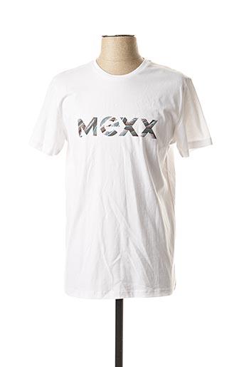 T-shirt manches courtes blanc MEXX pour homme