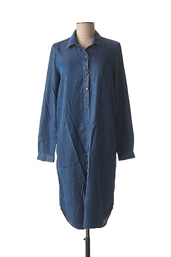 Robe mi-longue bleu CARLA KOPS pour femme