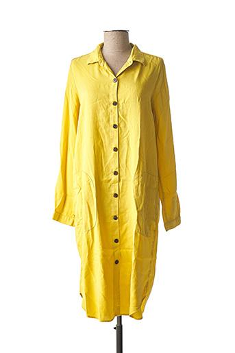 Robe mi-longue jaune CARLA KOPS pour femme