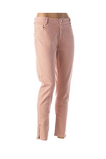 Jeans coupe slim rose CARLA KOPS pour femme