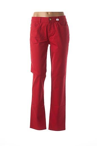 Jeans coupe slim rouge TOMMY HILFIGER pour femme