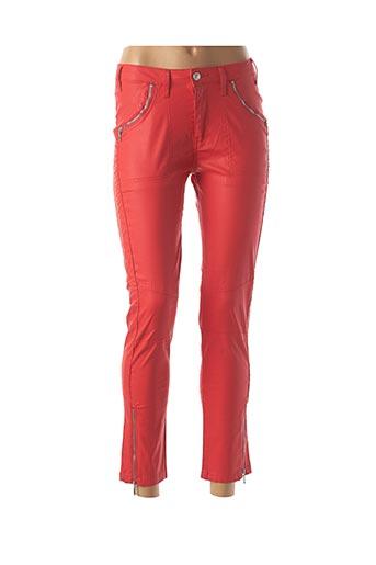 Pantalon 7/8 orange CARLA KOPS pour femme