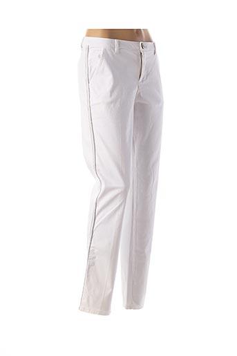 Pantalon casual blanc CARLA KOPS pour femme