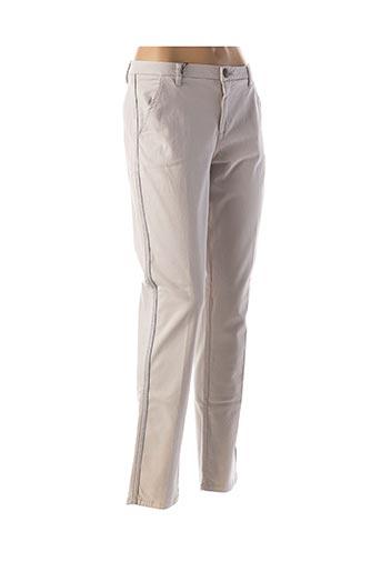 Pantalon casual gris CARLA KOPS pour femme